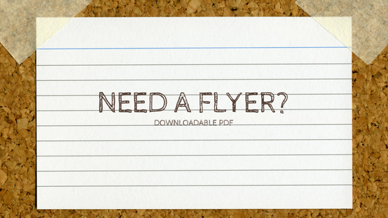 need a flyer